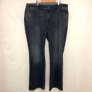 WHBM | Jeans Embellished Boot Cut sz 22W